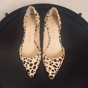 Sole Society Mitzi Leopard Spot Heel 5.5